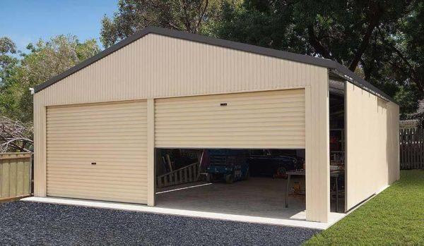 Double Garage Cream