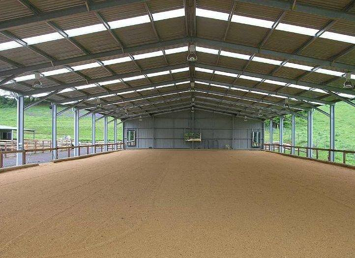 Horse Arena Internal Open Riding Area