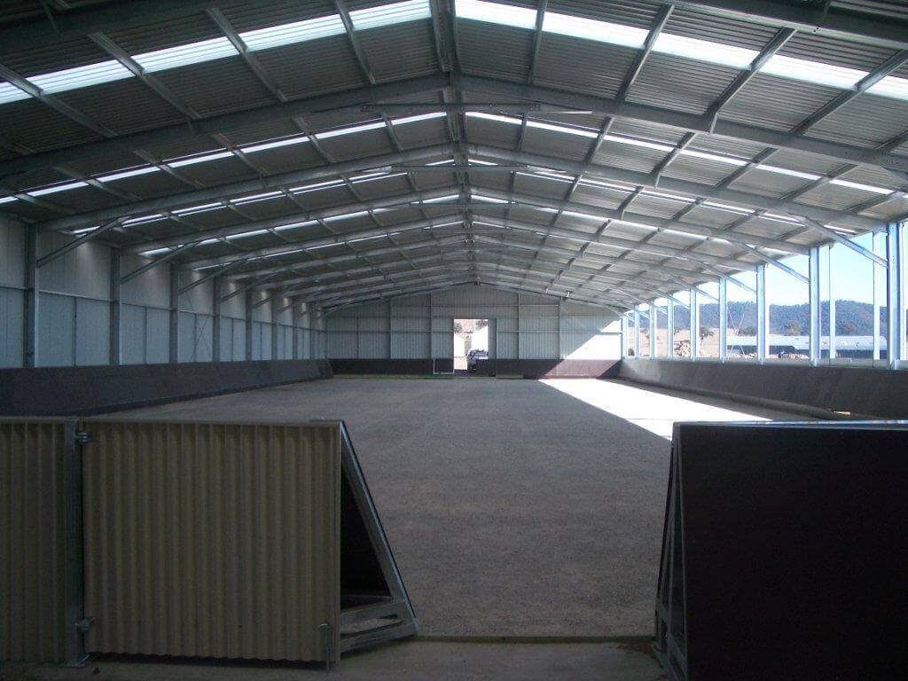 Horse Arena Partly enclosed with kickboards
